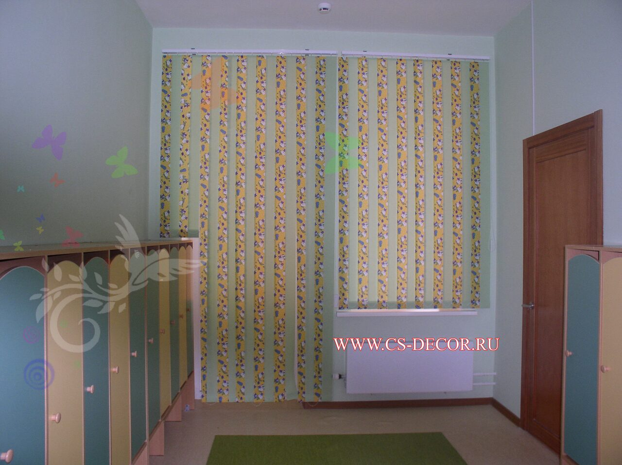 Короткие шторы для детской