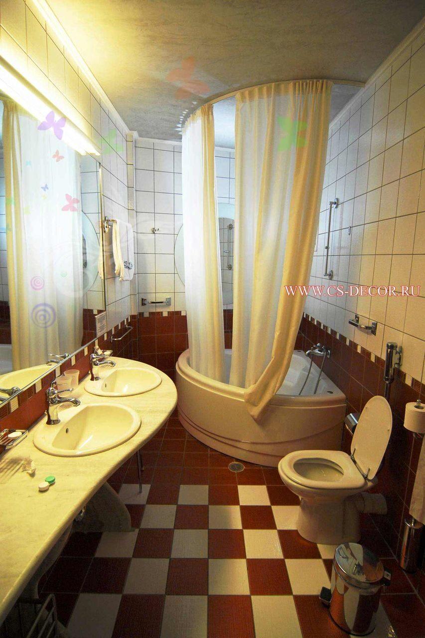 Фото дизайн штор для ванной комнаты