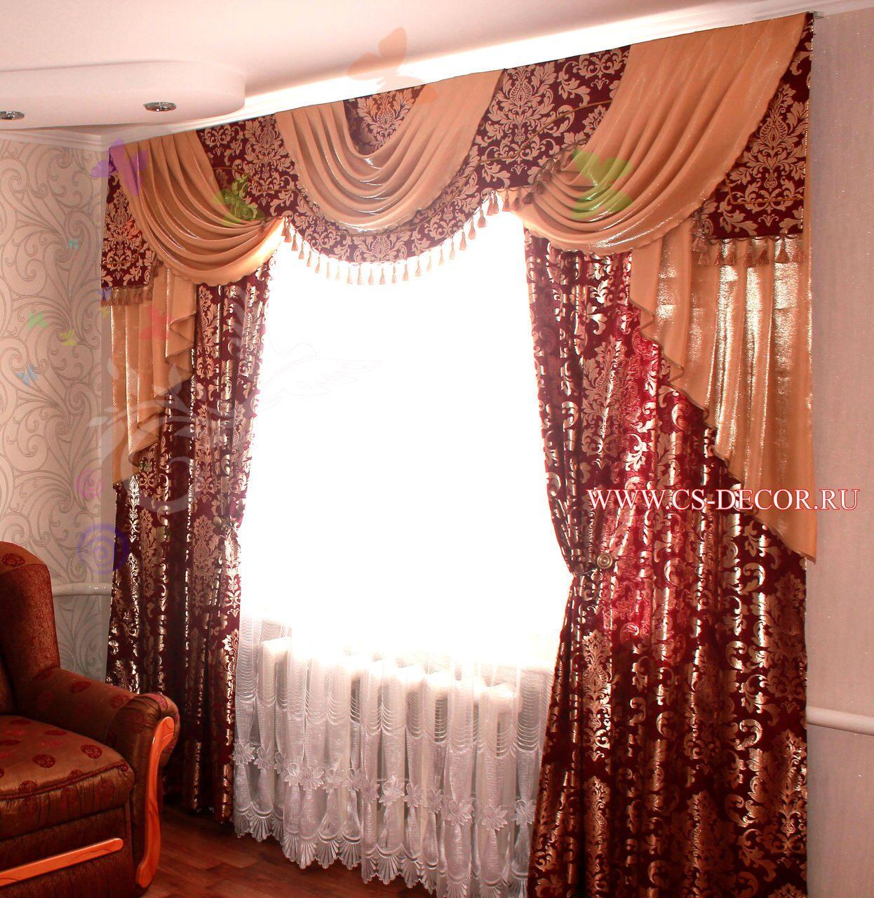 Шитье штор и ламбрекенов фото